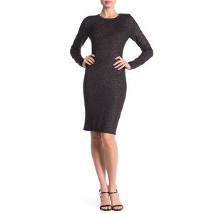 NWT: Vince Camuto Black Sparkle Fitted Dress